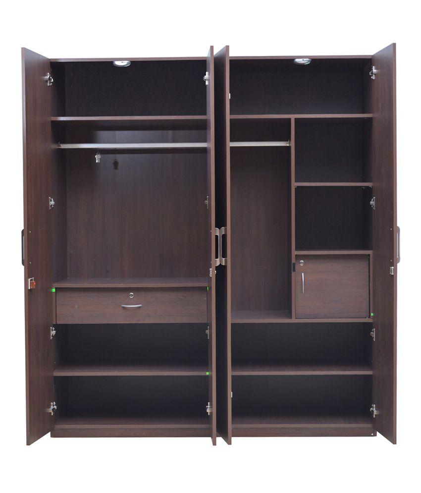 hometown duke plywood 4 door wardrobe buy online at best price rh snapdeal com