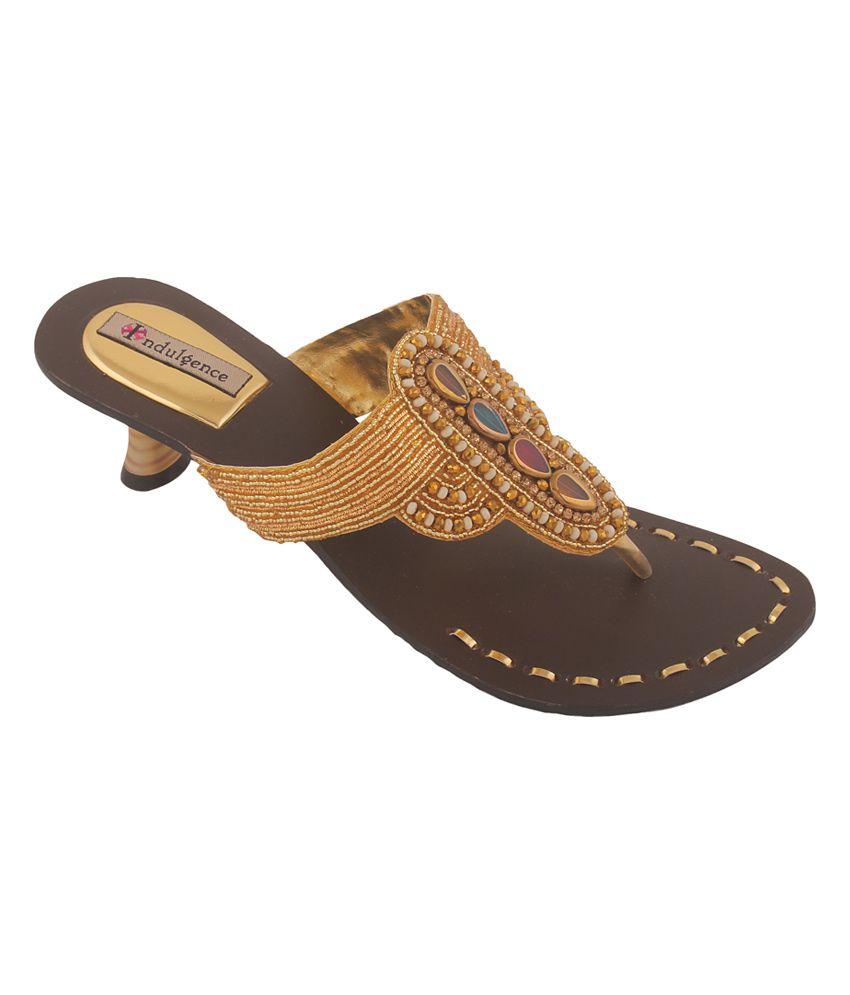 Indulgence Gold Ethnic Footwear