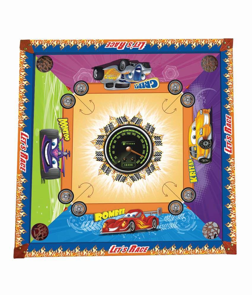 Prasima Toys 2-in-1 Car Carom Board