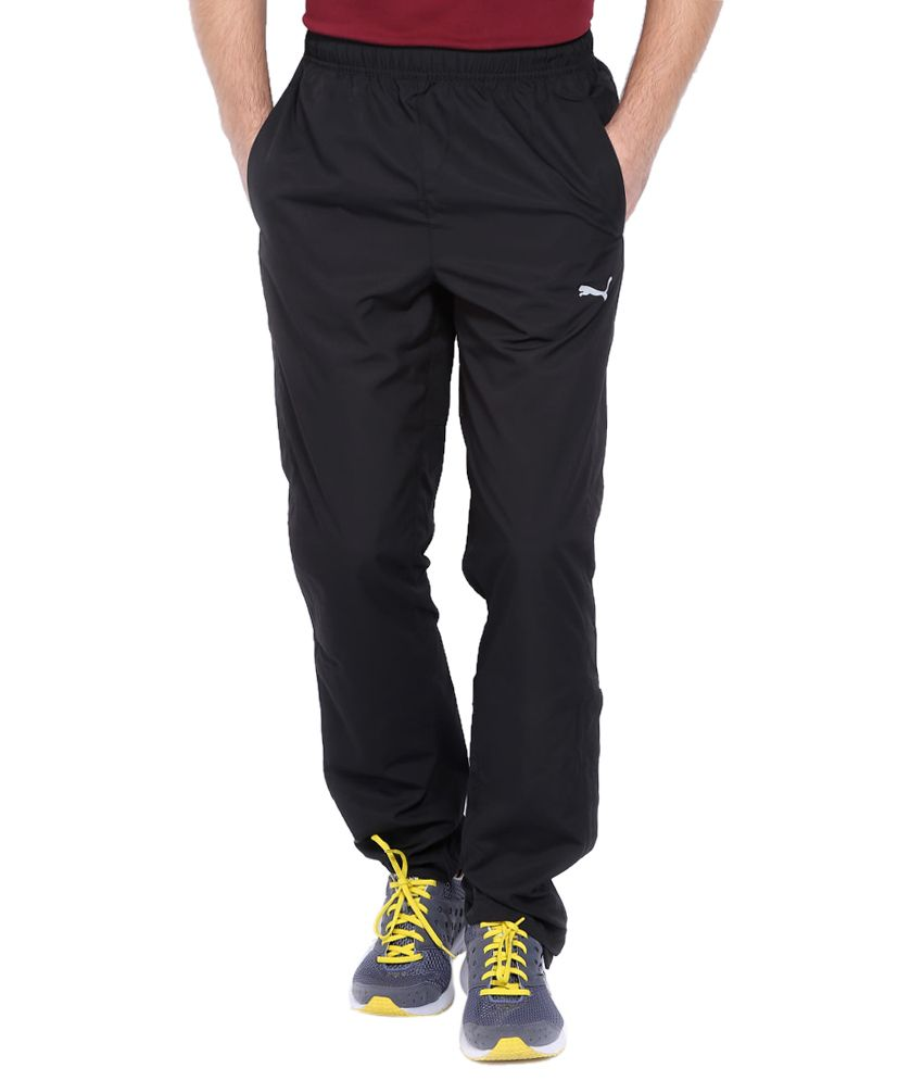 Puma Black Polyester Trackpants