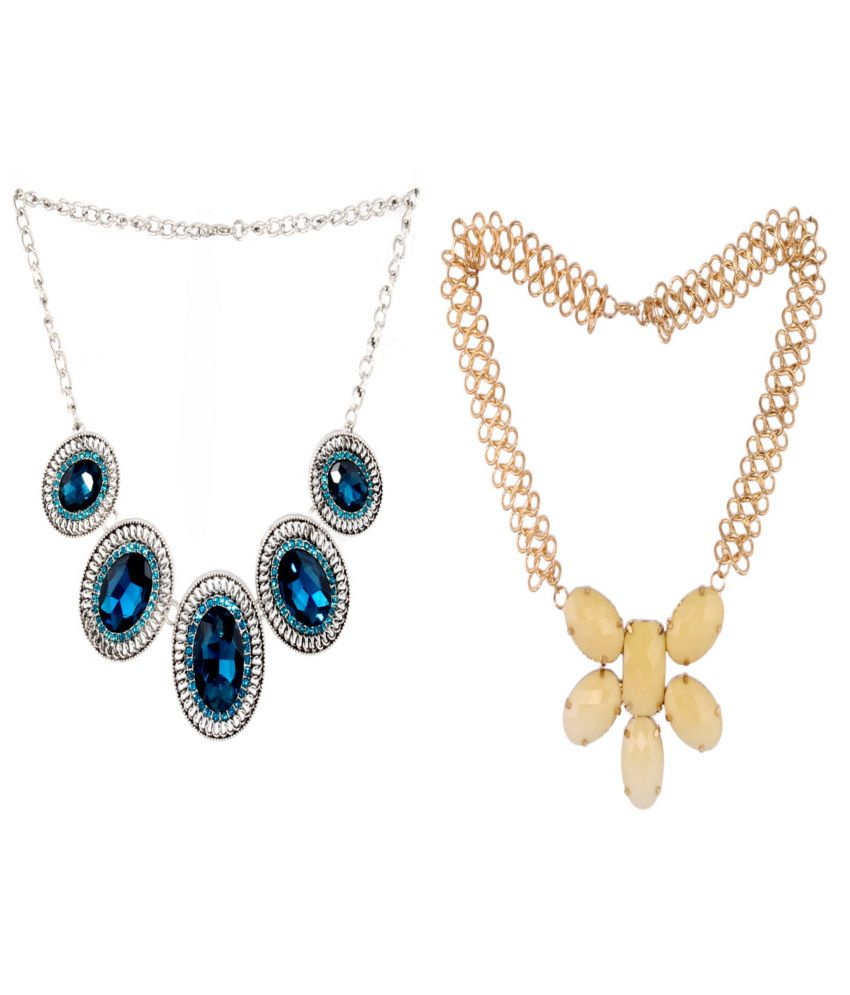 SP Jewellery Fashionable Designer Wedding And Party Wear Necklace Combo Set