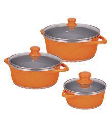 Wonderchef Ceramide Casserole Set of 6Pcs- Orange
