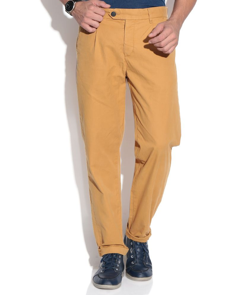 Jack & Jones Khaki Regular Casuals Trousers & Chinos
