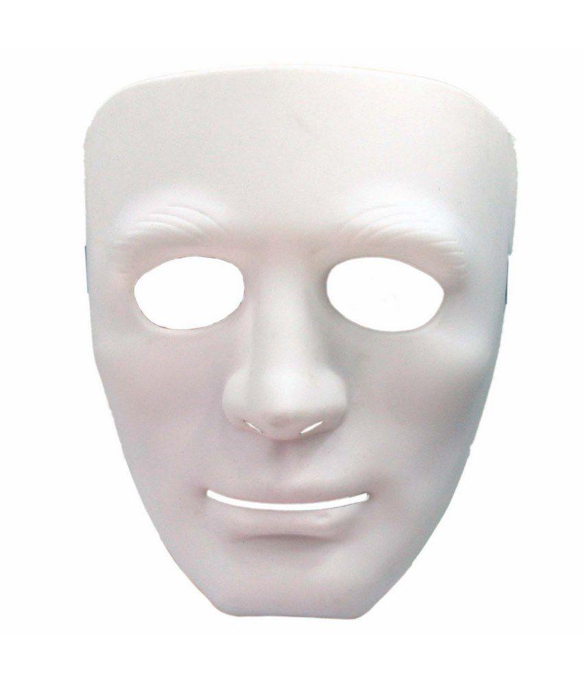 Tootpado Halloween Full Blank Face Man Expression Mask - White ...