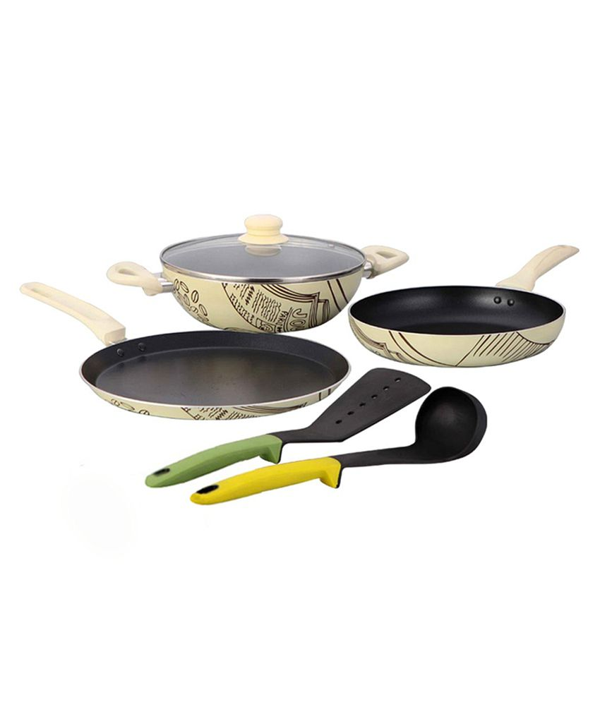 Wonderchef Picasso Cookware Set With Free Spoon & Spatula