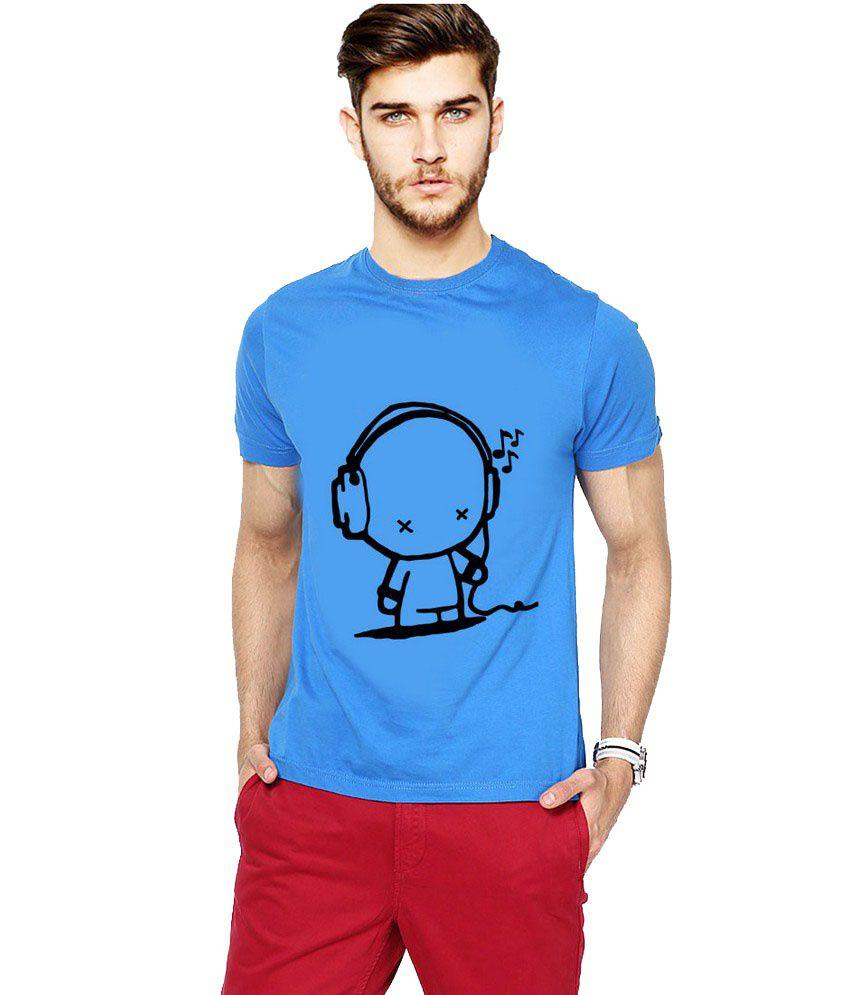 Ilyk Listening Music Men Blue Printed T-shirt