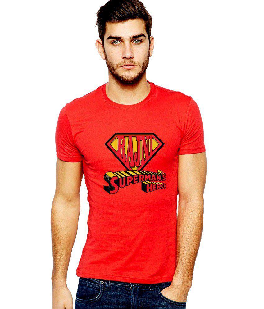 Ilyk Rajni Supreman's Hero Men Red Printed T-shirt