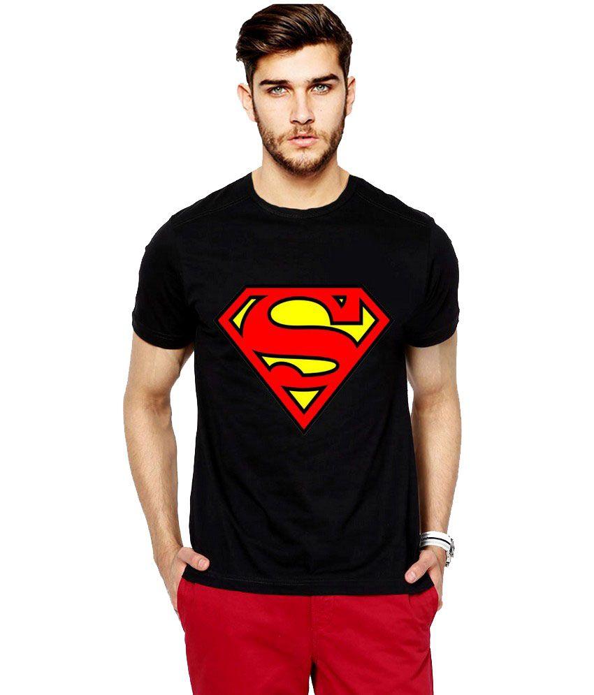 ce118ea94d 65% OFF on Ilyk Superman Men Black Printed T-shirt on Snapdeal |  PaisaWapas.com
