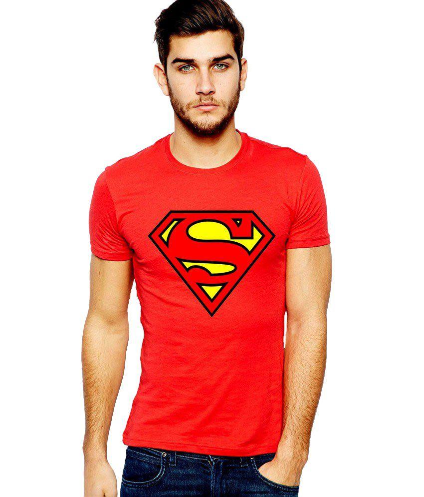 Ilyk Superman Men Red Printed T-shirt