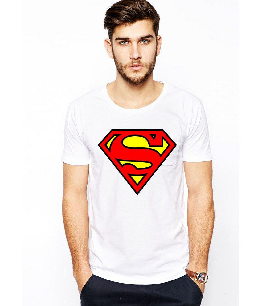 Ilyk Superman Men White Printed T-shirt