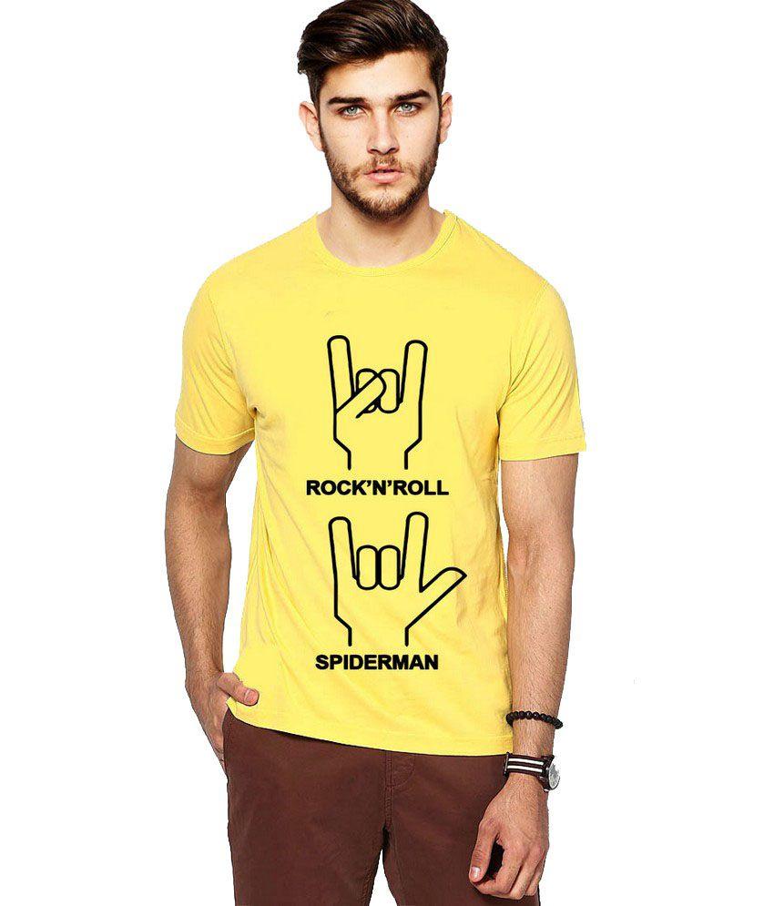 Ilyk \m/ Men Yellow Printed T-shirt