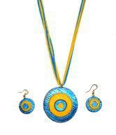 Hand Art Handmade Terracotta Jewellery Set Hatj126 Diwali Gift For Sister Wife Girlfriend