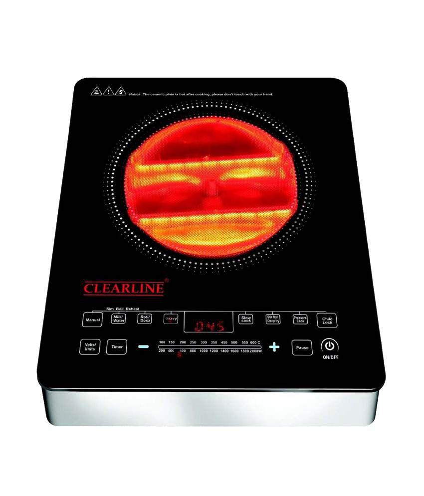 clearline clearline induction cooktop induction cooker 9 preset cooking functions. Black Bedroom Furniture Sets. Home Design Ideas