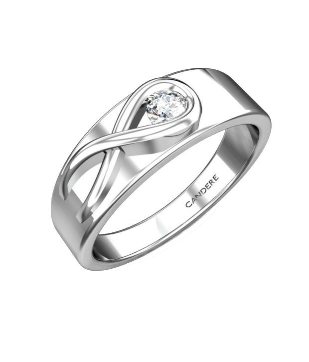 Candere Paul Diamond Ring White Gold