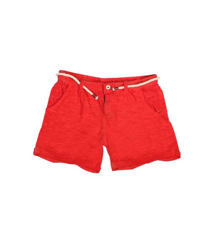 Fiore Rasa Red Shorts