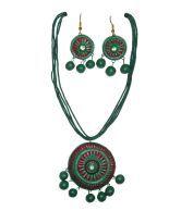 Hand Art Handmade Terracotta Jewellery Set Hatj61 Diwali Gift For Sister Wife Girlfriend