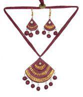 Hand Art Handmade Terracotta Jewellery Set Hatj94 Diwali Gift For Sister Wife Girlfriend