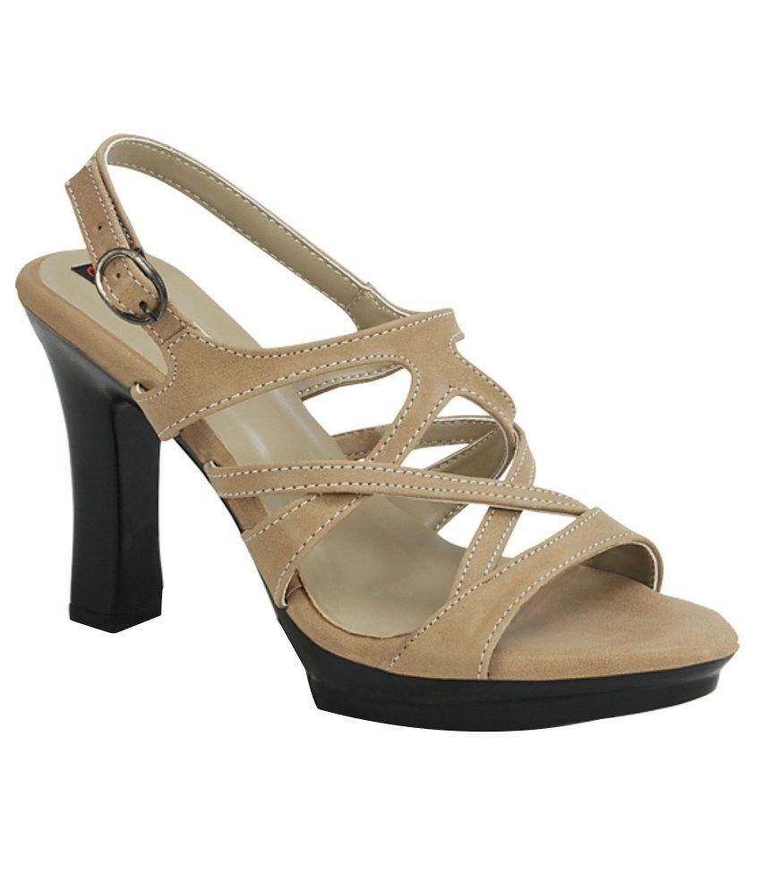 Get Glamr Beige Block Sandals