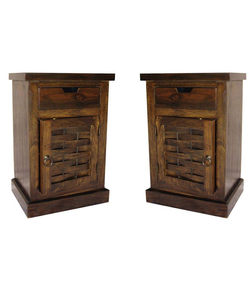Buy 1 Junglewood Light Walnut Side Table - Get 1 Free