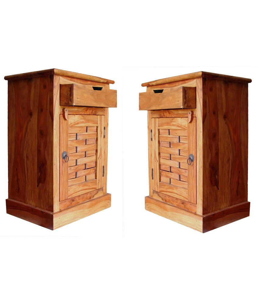 Buy 1 Junglewood Natural Brown Side Table - Get 1 Free
