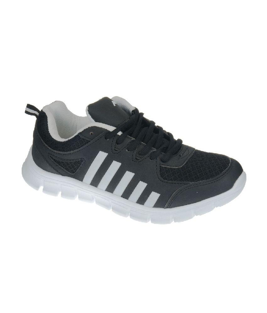Pro Black Lace-up Sports Sneaker Shoes