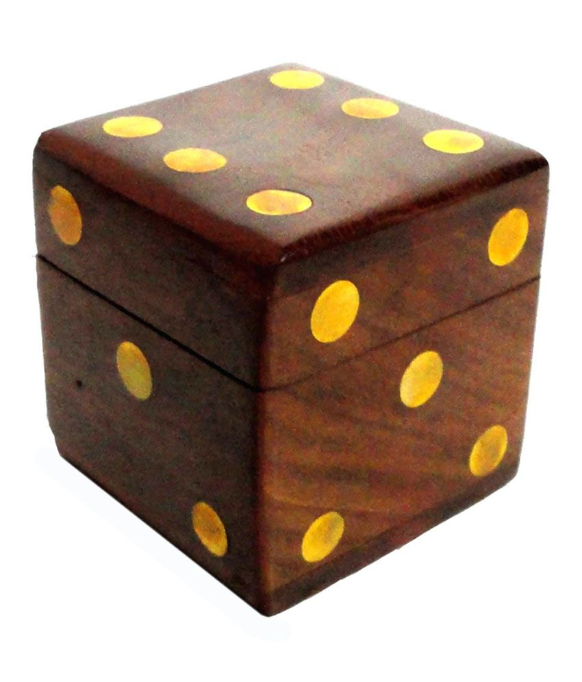 Craft Store India Wooden Dice Box - 4x4 Inch