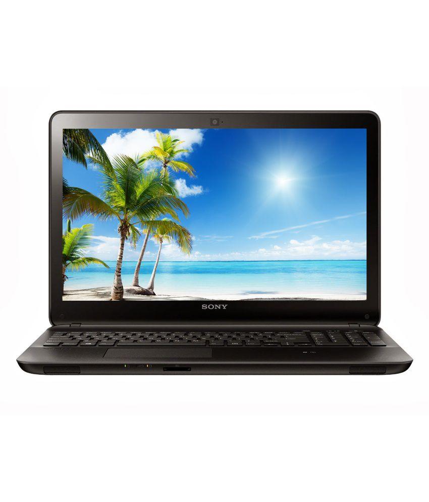 Sony VAIO Fit 15E Laptop (4th Gen Intel Core i3- 2GB RAM- 500GB HDD- 39.37cm (15.5)es Touchscreen- Win 8.1) (Black) (SVF15325SNB)