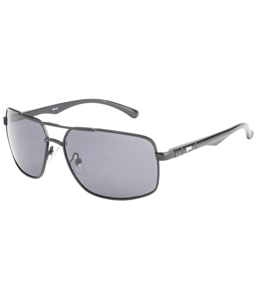 Vincent Chase Gray Medium Men Rectangle Sunglasses
