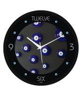 Regent Black Digital Texture Wall Clock