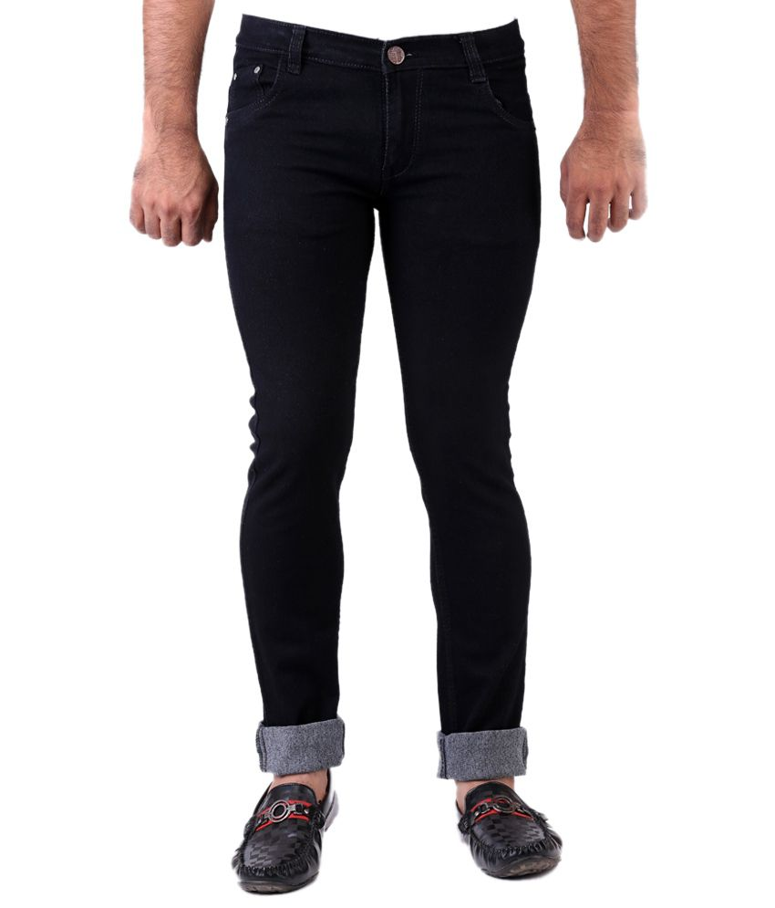 Haltung Streachable Black Men Denim Jeans