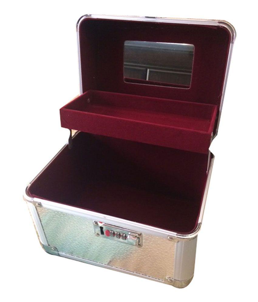 Platinum Makeup And Jewellery Vanity Box: Buy Platinum ...