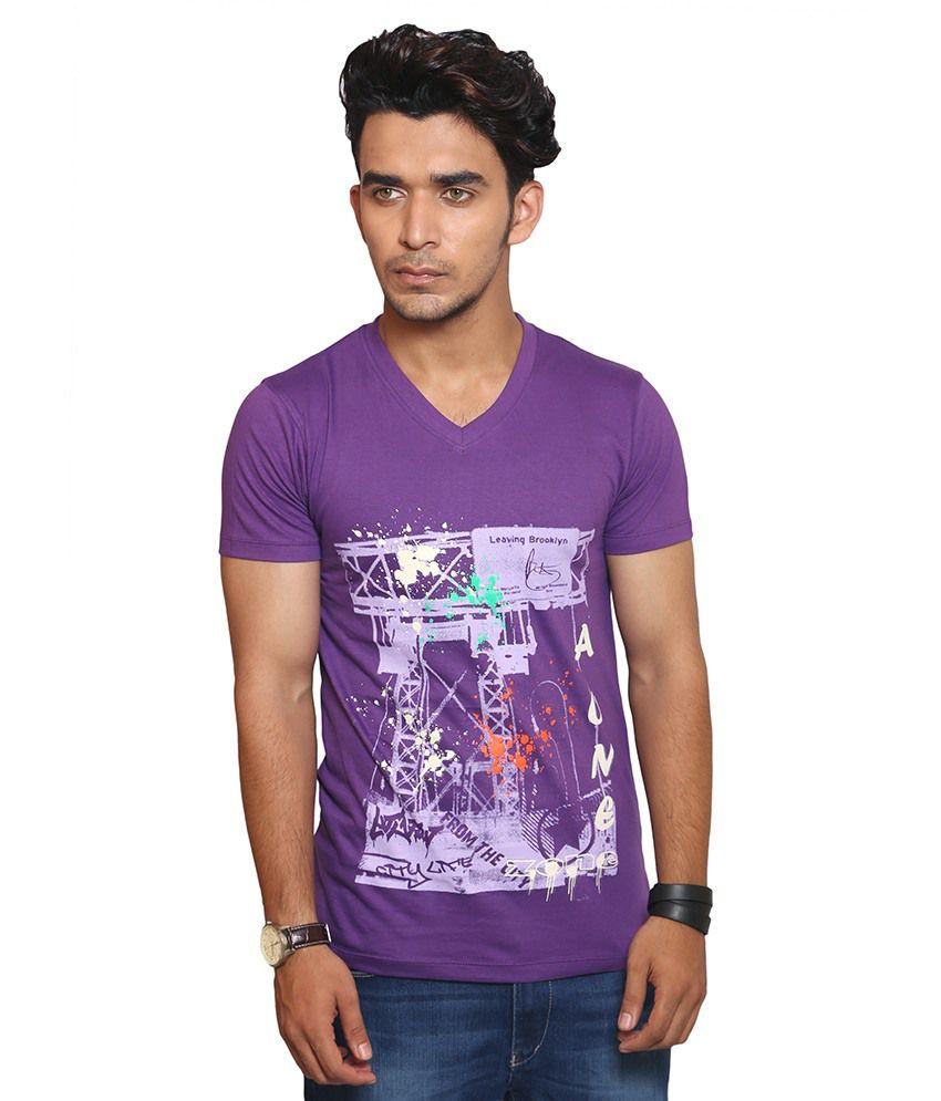 A1 Tees Purple Cotton T-shirt