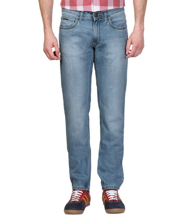 Allen Solly Blue Relaxed Jeans