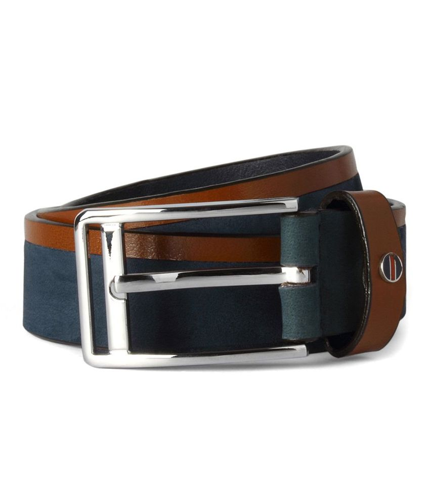 Louis Philippe Blue Casual Single Belt For Men