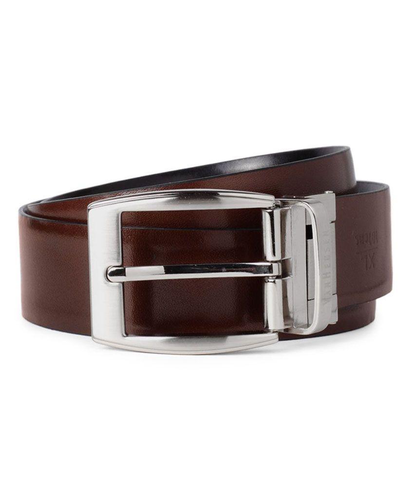 Van Heusen Black Formal Single Belt For Men