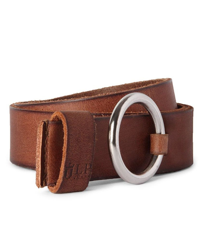 Louis Philippe Brown Casual Single Belt For Men