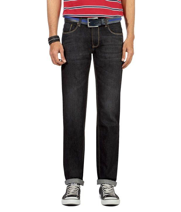 People Black Regular Jeans