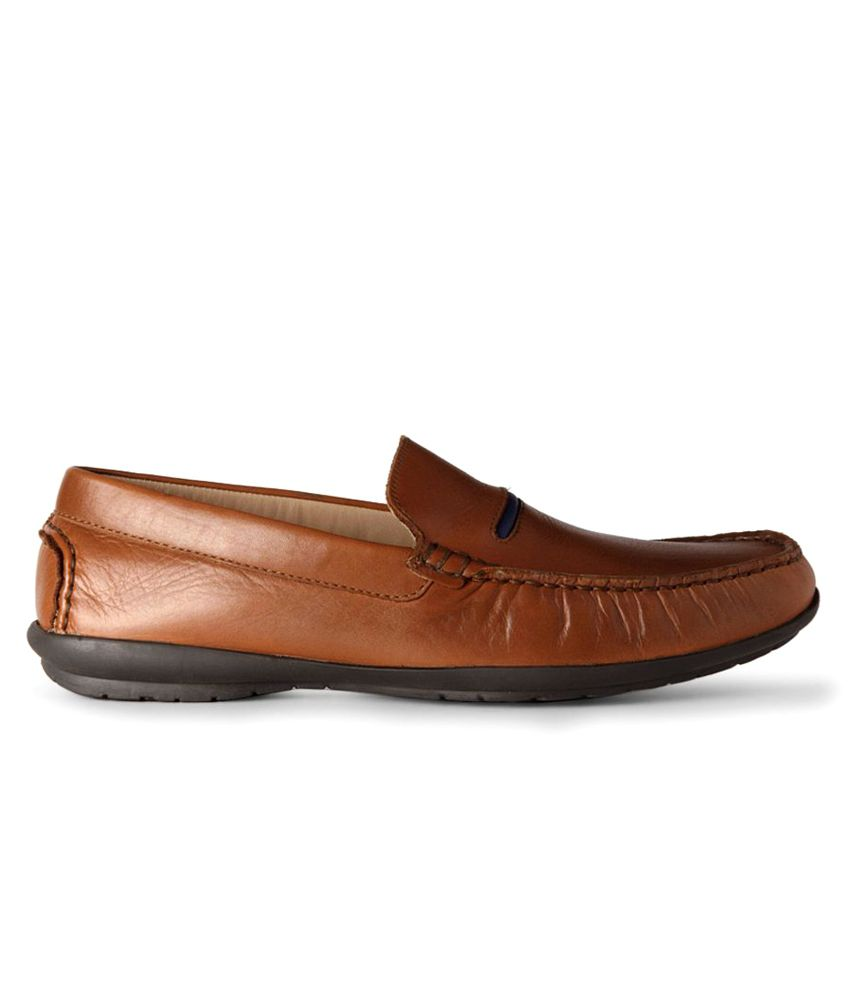 bfc8e05ed611 Van Heusen Brown Loafers - Buy Van Heusen Brown Loafers Online at ...