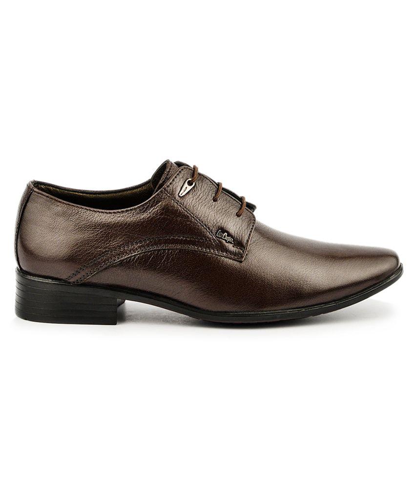 Lee Cooper Brown Shoes