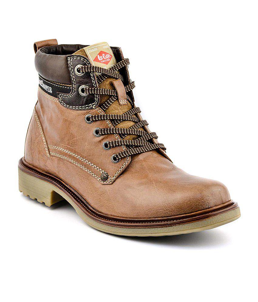 Lee Cooper Tan Boots - Buy Lee Cooper Tan Boots Online at ...