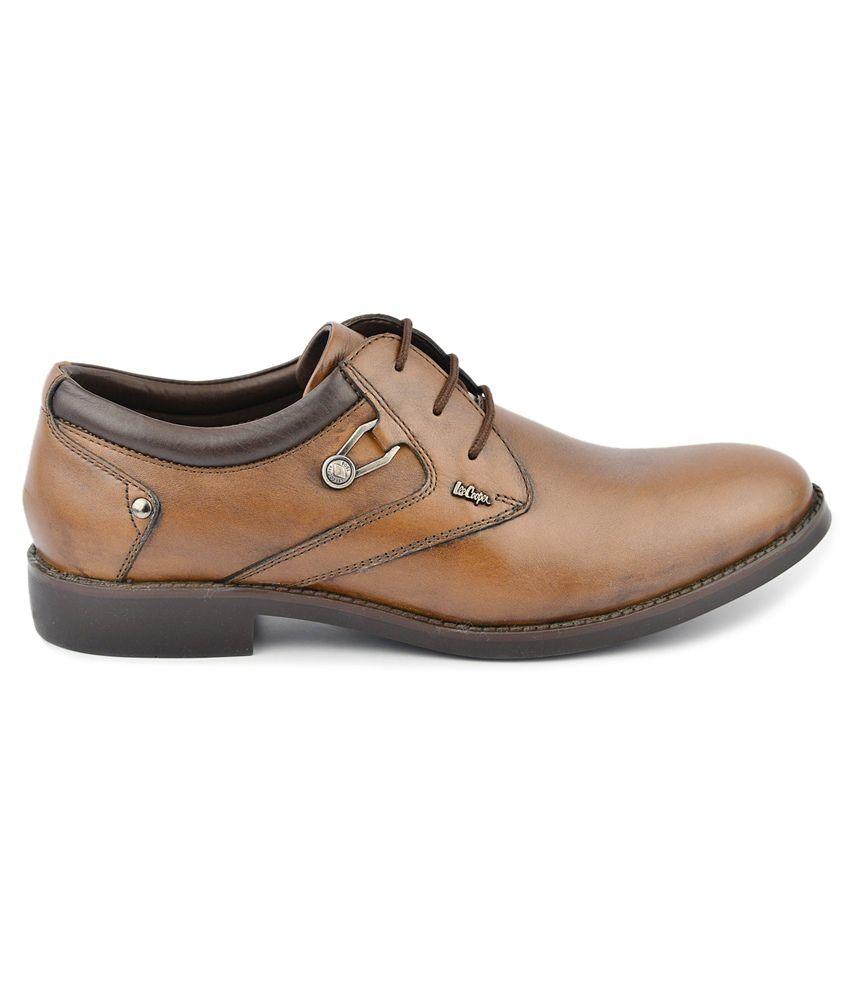 83c53a1c4f3 Lee Cooper Tan Formal Shoes Price in India- Buy Lee Cooper Tan ...