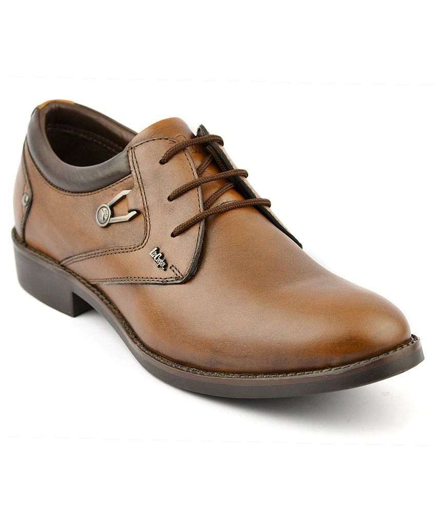 d7cd13e4 Lee Cooper Tan Formal Shoes Price in India- Buy Lee Cooper Tan Formal Shoes  Online at Snapdeal