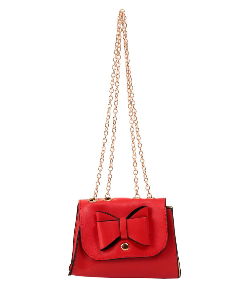 Buy New Pearls Cute Red Girls Sling Bag at Best Prices in India ...