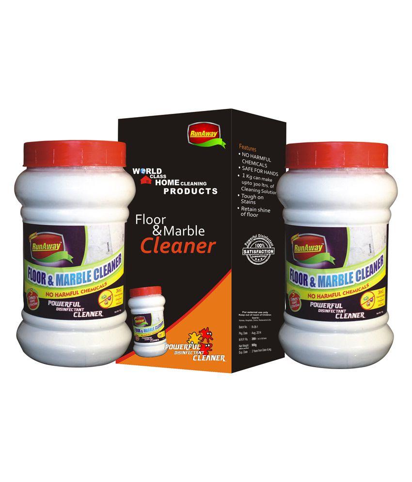 Marble Floor Cleaner : Combo package of runaway floor marble cleaner for