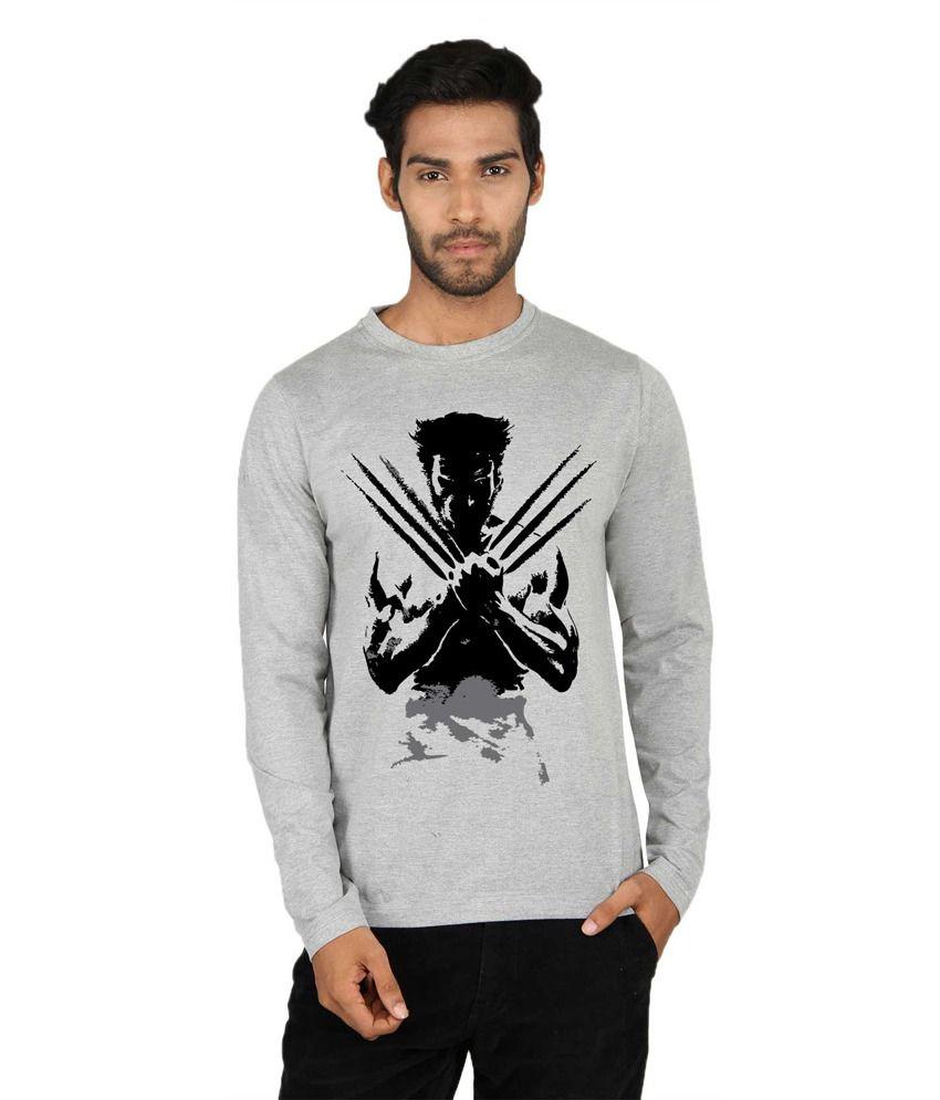 Say It Loud Wolverine Printed Black Full Sleeve T Shirt