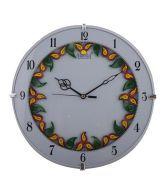 Ajanta Ajanta Plastic Handcrafted Designer Ivory Wall Clock