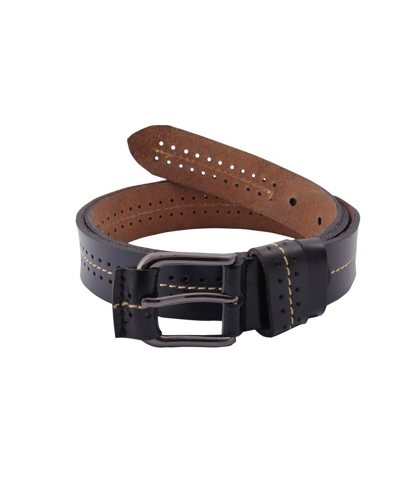 Belbuc Black Leather Single Casual Belt For Men/women