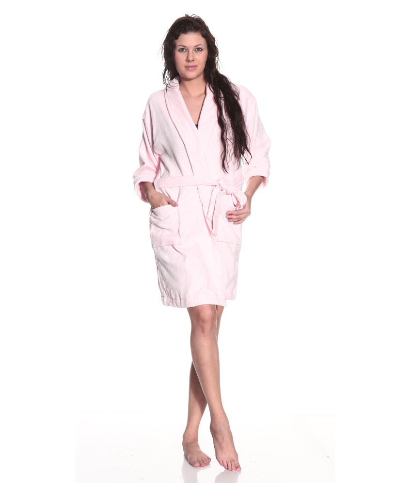 c47b365ae5 Bombay Dyeing Pink Cotton Bathrobe - Buy Bombay Dyeing Pink Cotton Bathrobe  Online at Low Price - Snapdeal