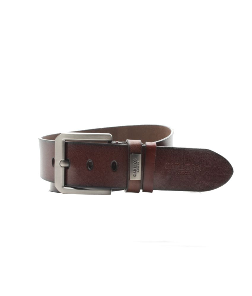 Carlton London Brown Formal Single Belt For Men