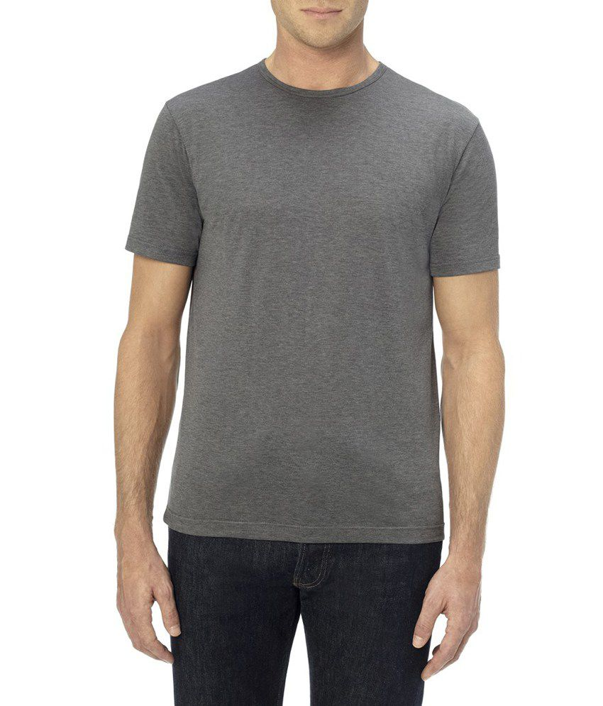 dark gray color round neck t shirt buy dark gray color